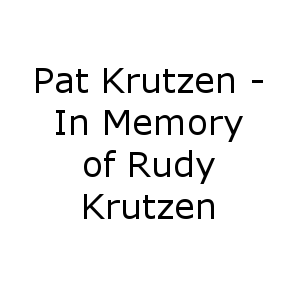In Memory of Rudy Krutzen